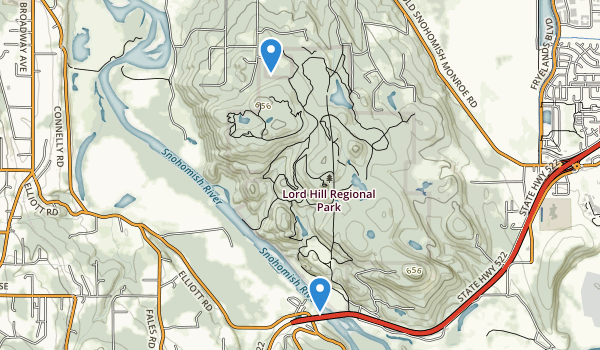 trail locations for Lord Hill Regional Park