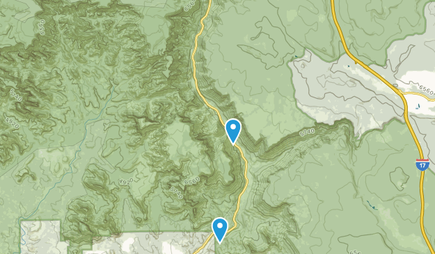 Parque Estatal Silde Rock Map