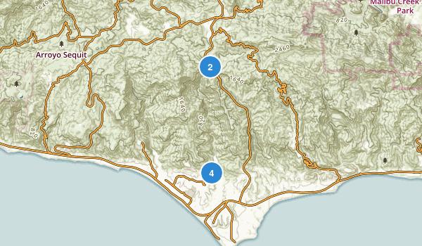 Zuma Trancas Canyons Map