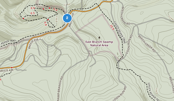 trail locations for Sproul State Forest