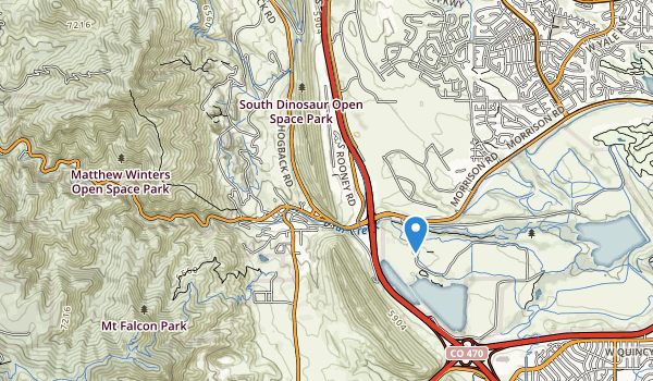 trail locations for Bear Creek Canyon Park