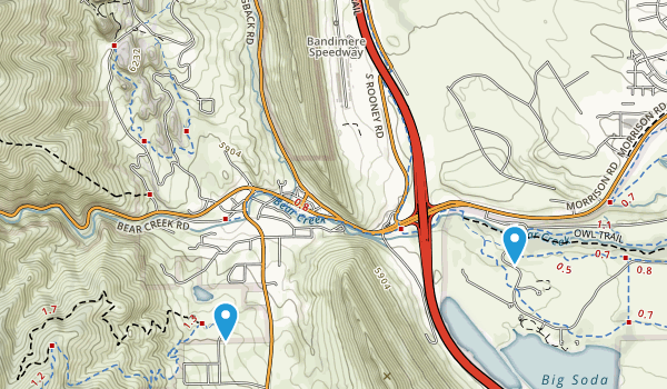 Bear Creek Canyon Park Map