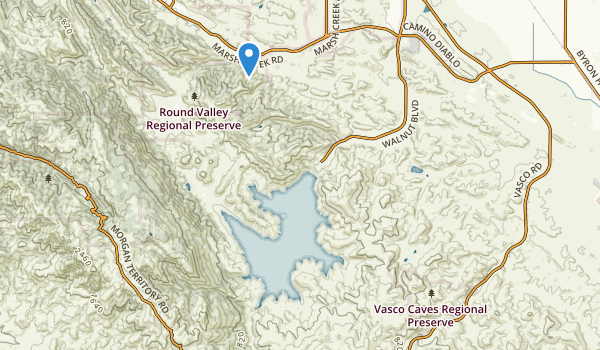 trail locations for Round Valley Regional Park