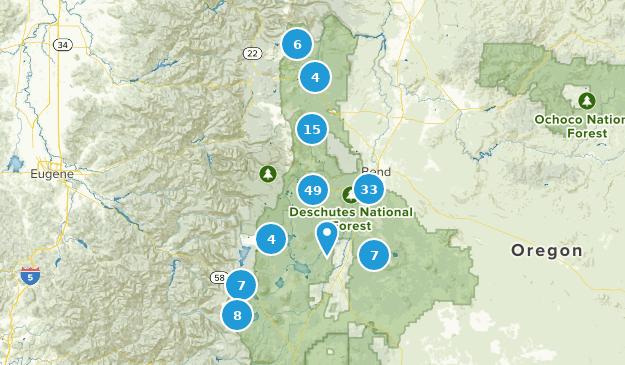Bosque Nacional Deschutes Map