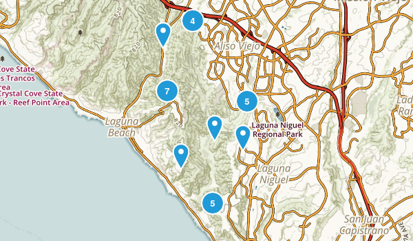 Aliso And Wood Canyons Regional Park Map