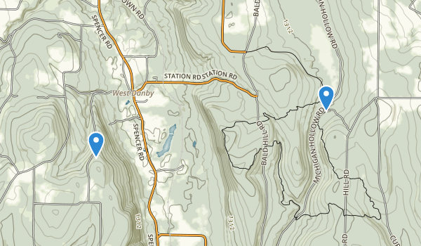 Danby State Forest Map