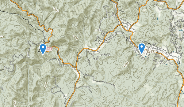 trail locations for Smithgall Woods Dukes Creek Conservation Area