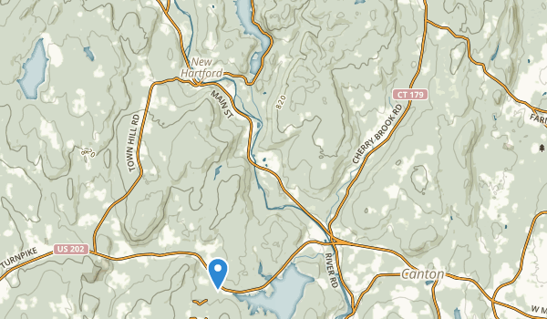 trail locations for Nepaug State Forest