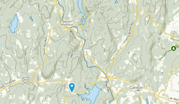 Nepaug State Forest Map