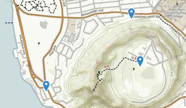 Diamond Head Crater Park Map