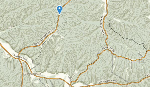 trail locations for Devils Backbone State Natural Area
