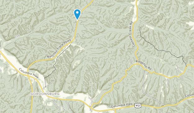 Devils Backbone State Natural Area Map