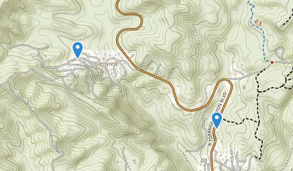 trail locations for Summit Valley Edmund D Edelman Park