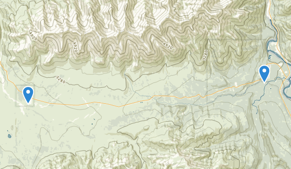 trail locations for Denali Wilderness