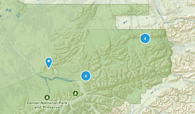 Denali Wilderness Map