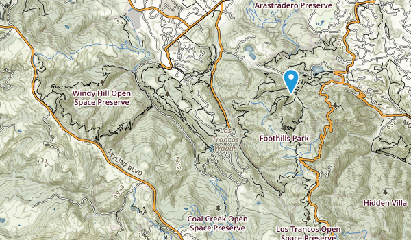 Palo Alto Foothills Park Map