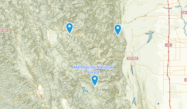 Mendocino National Forest Map