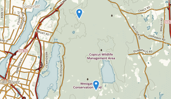 Freetown Fall River State Forest Map