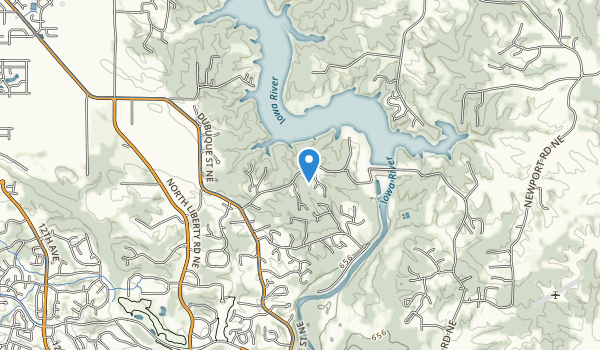 trail locations for Coralville Dam Recreation Area