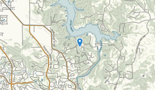 Coralville Dam Recreation Area Map