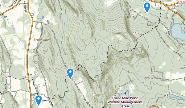 trail locations for East Mountain State Forest
