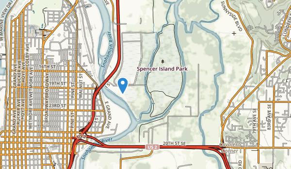trail locations for Spencer Island Park