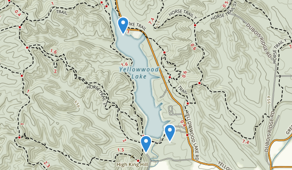 Yellowwood State Forest Map