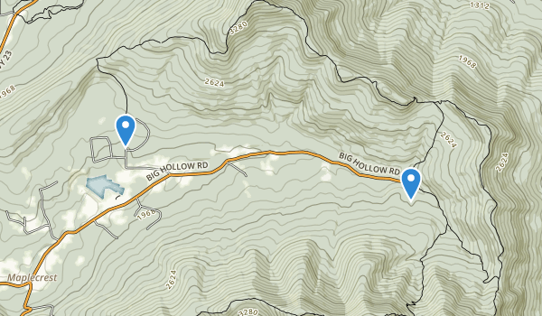 trail locations for Windham High Peak