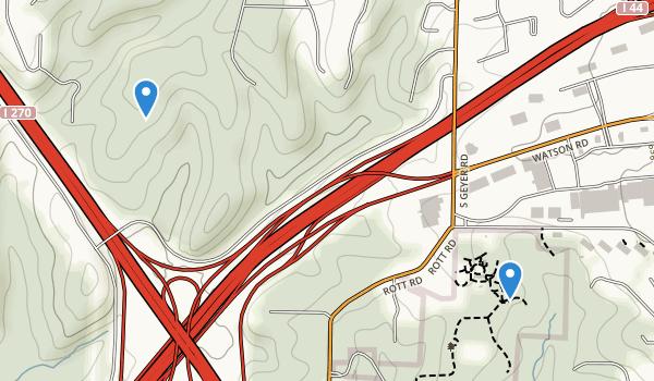 trail locations for Laumeier Sculpture Park