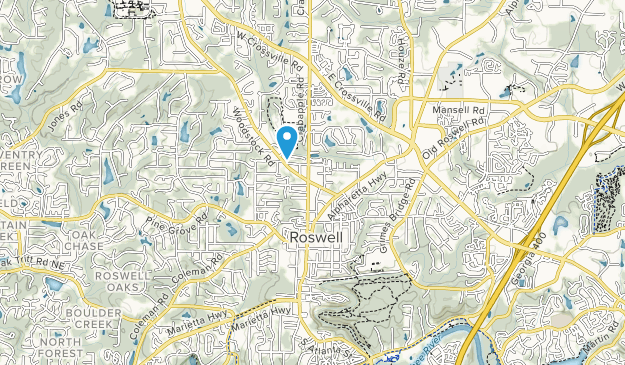 Roswell Area Park Map