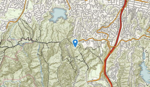trail locations for Westridge Canyonback Wilderness Park