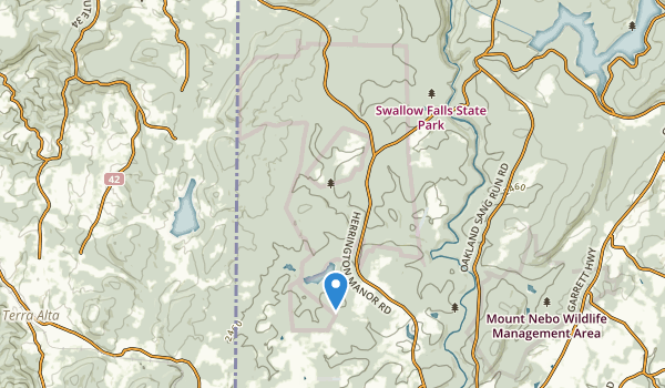 trail locations for Garrett State Forest