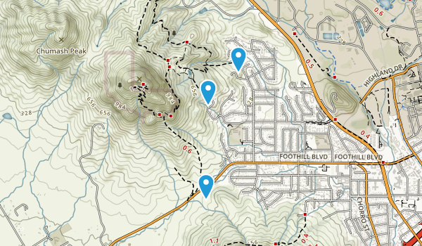 Bishop Peak Natural Area Map