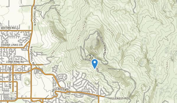trail locations for Prescott Roxy Ann Park