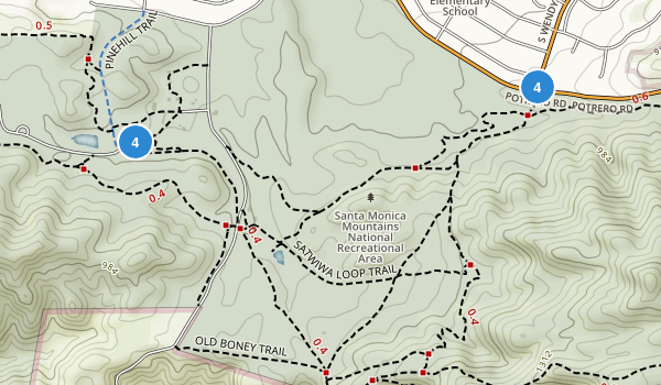 Rancho Sierra Vista Satwiwa Map