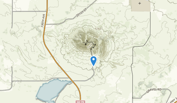 trail locations for Bear Butte Lac\ke Recreation Area
