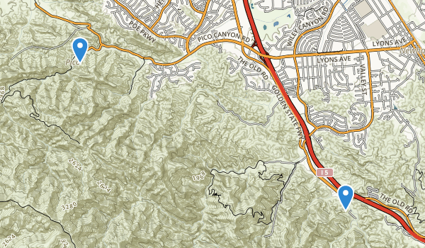 trail locations for Santa Clanta Woodlands Park