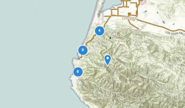 trail locations for Montana De Oro State Park