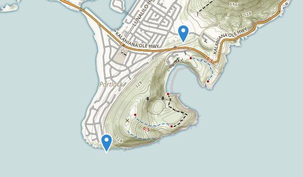 trail locations for Hanauma Bay Nature Preserve Park