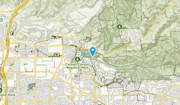Carbon Canyon Regional Park Map