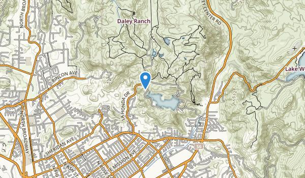 trail locations for Dixon Lake Recreation Area