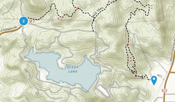 Dixon Lake Recreation Area Map