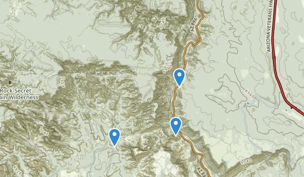 trail locations for Rock Swim Area