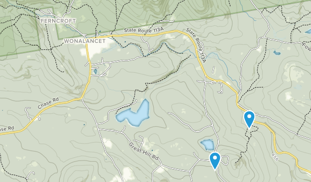 Hemenway State Forest Map