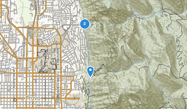 trail locations for Rock Canyon Park