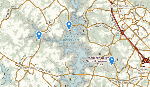 Liberty Reservoir Park Map