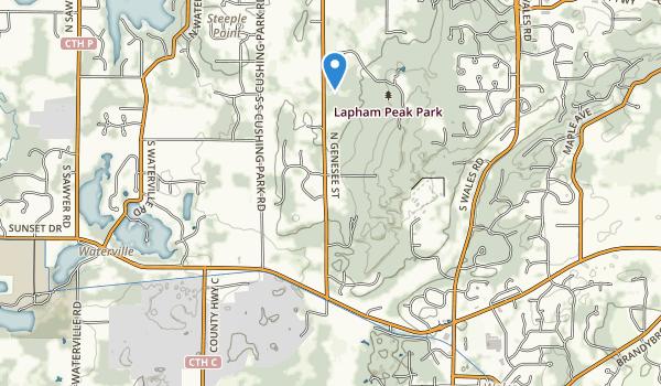 Lapham Peak Park Map
