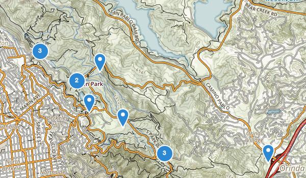 trail locations for Tilden Regional Park