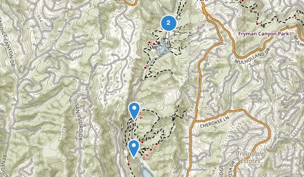 trail locations for Frankiln Canyon Park