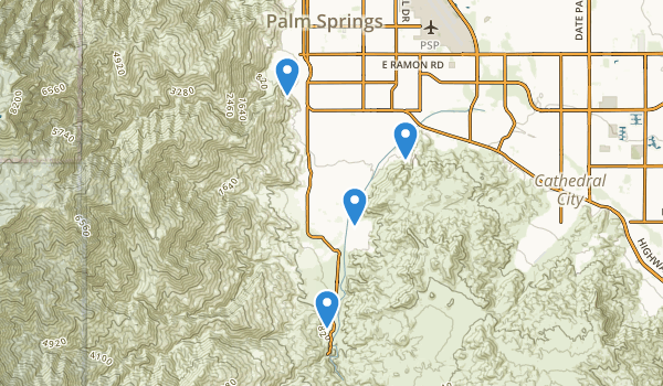 trail locations for Sunrise Park